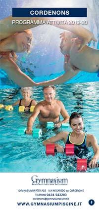 depliant corsi di nuoto Gymnasium Pordenone